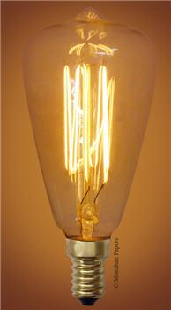 Vintage Style Teardrop Candelabra Bulb - 25 Watt Large