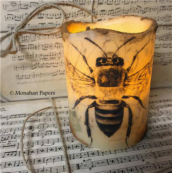 Bee Timered Flicker Candle