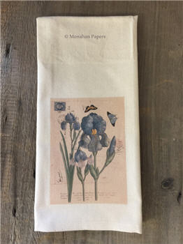 Blue Iris Botanical Tea Towel - BOT35TT
