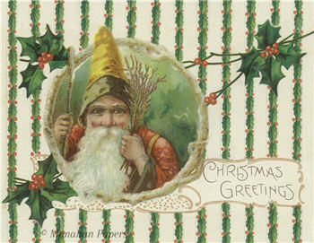 Christmas Greetings Claus - C225-