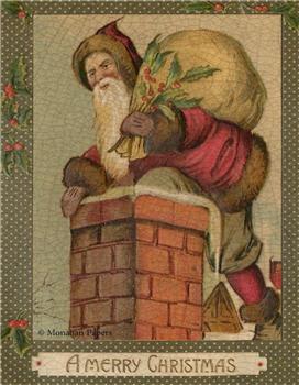 Merry Christmas Chimney Santa - C252