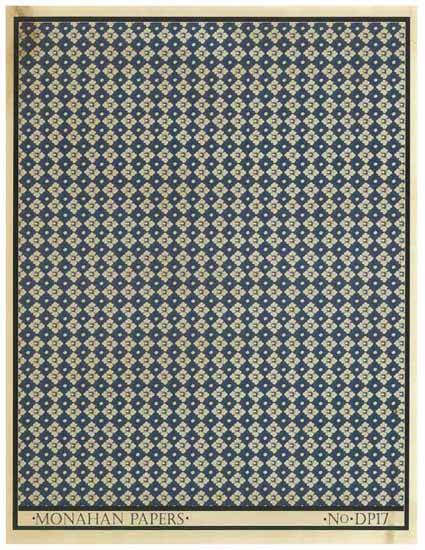 Blue and White Floral Check - DP17