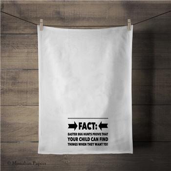 Easter Fact Tea Towel - FACTETT