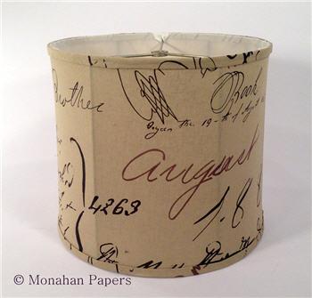 Old English Script Drum Lamp Drum Shade - LSOldEnglish