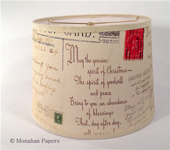 Holiday Postcard Drum Lamp Shade - LSPCHoliday