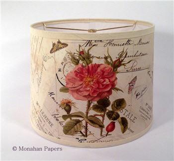 """La Rose Lampshade - 14"""" Drum"""