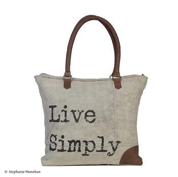 Live Simply Shoulder Bag