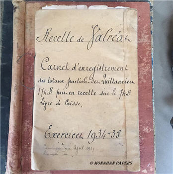 French Receipt Book 1934-1935