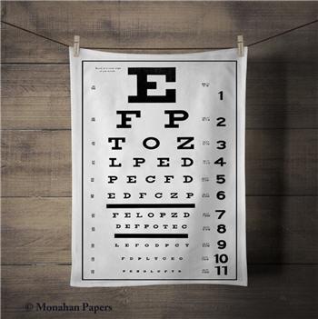 Eye Chart Tea Towel - SPS603TT