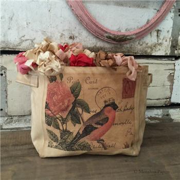 Bird & Roses Tote - SPS984CSBSM
