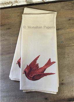 Red Cardinal Tea Towel - TTREDC