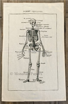 French Skeleton Tea Towel - TTSPS140