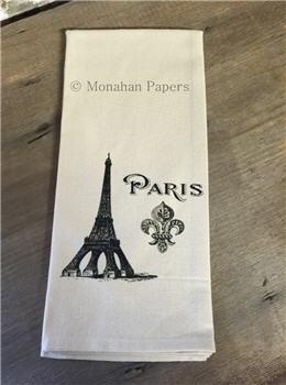 Eiffel Tower Fleur De Lis Tea Towel - SPS521TT