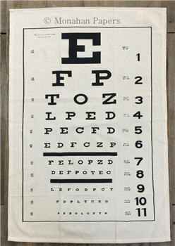Eye Chart Tea Towel - TTSPS603