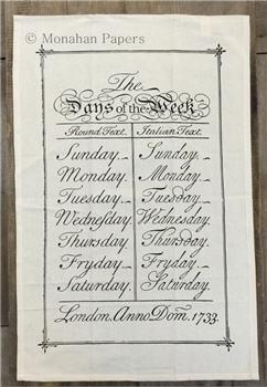 Days Of The Week Tea Towel - TTSPS687
