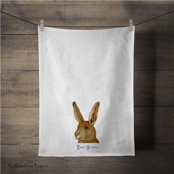 Easter Greetings Bunny Tea Towel - ZBTT3