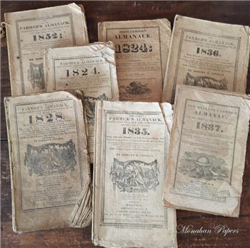Antique Almanacs - Assorted