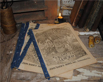 Antique Almanacs - Assorted Blue Binding
