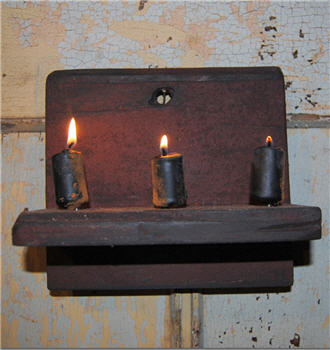 Barn Red Chippy Hanging Candle Shelf