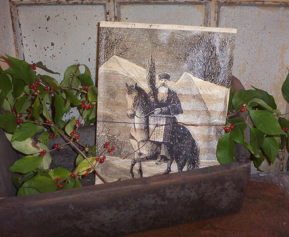Belsnickle On A Horse  Potpourri Pouch-belsnickle, potpourri, pouch,