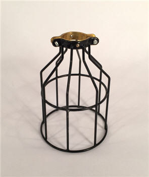 Industrial Bulb Cage - Black