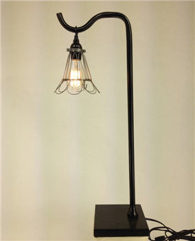 Hook Lamp & Wire Shade Cage