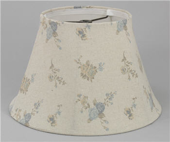 Blue & Pink Rose Lamp Shade - BLRLS