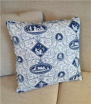 Blue & White Toile Pillow - BWTOILEP