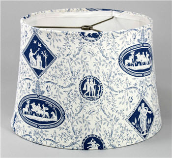 Blue & White Toile Lamp Shade - BLUETOILE
