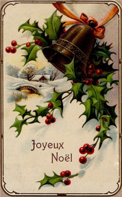 Bells With Ivy Joyeux Noel-