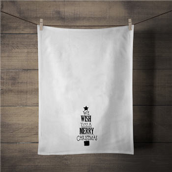 We Wish You A Merry Christmas Tea Towel - C278