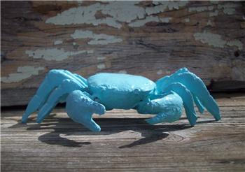 Sea Foam Blue Cast Iron Crab