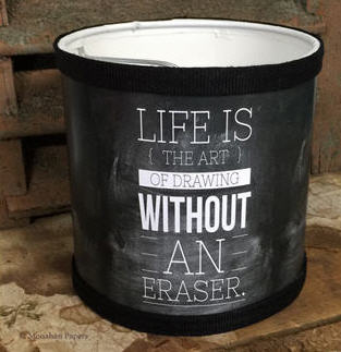 "Life Is The Art Lamp Shade - 6"" Round - CH296LS"