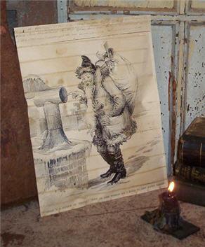 Chimney Santa Potpourri Pouch