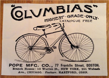 "Cotton Canvas ""Columbias - The Bike"" Floor Mat"