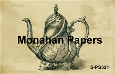Tall Tea Pot Paper Sheet