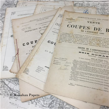 Antique French Documents - 1887 - 1891