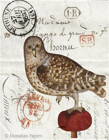 Owl on a Red Tuft - H18
