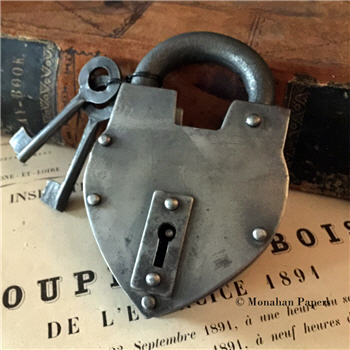 Heart Lock - with keys