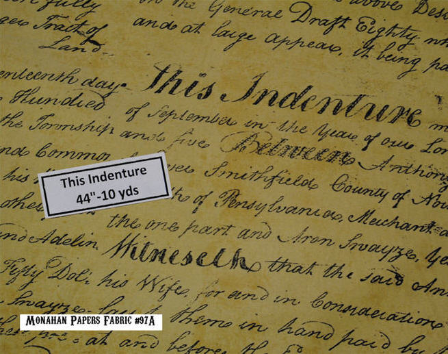 Indenture Deed Fabric-
