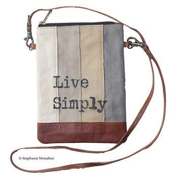 Live Simply Striped Cross Body Bag