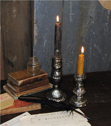 Reproduction Mercury Glass Candle Holders-