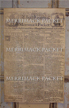 Merrimack Packet Paper Sheet