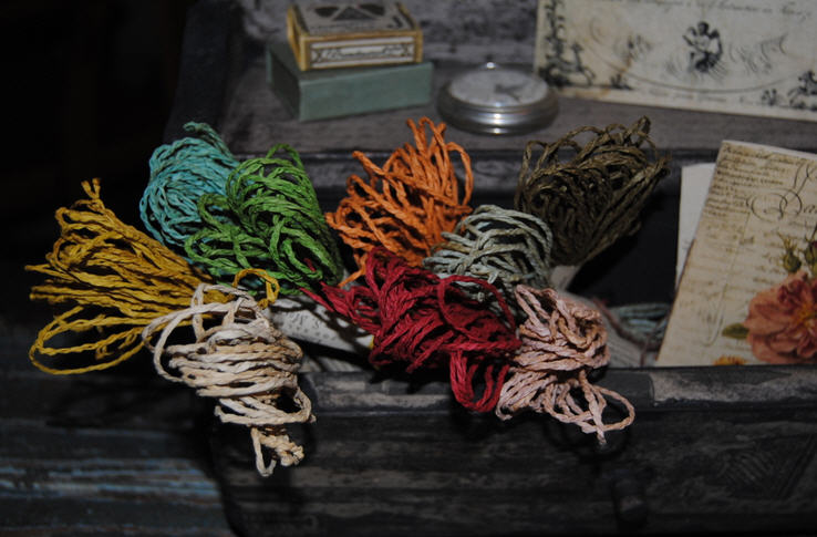 Paper Ribbon - Hand Dyed-