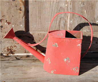 French Countryside Chippy Red Watering Can