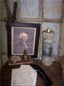 George Washington Framed Portrait-picture, framed, george, washington, candle, tallow, flicker