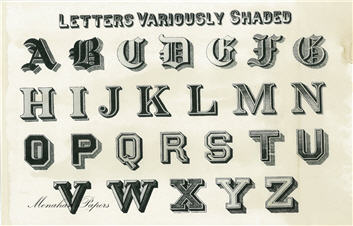 Letters Variously Shaded - SPS365