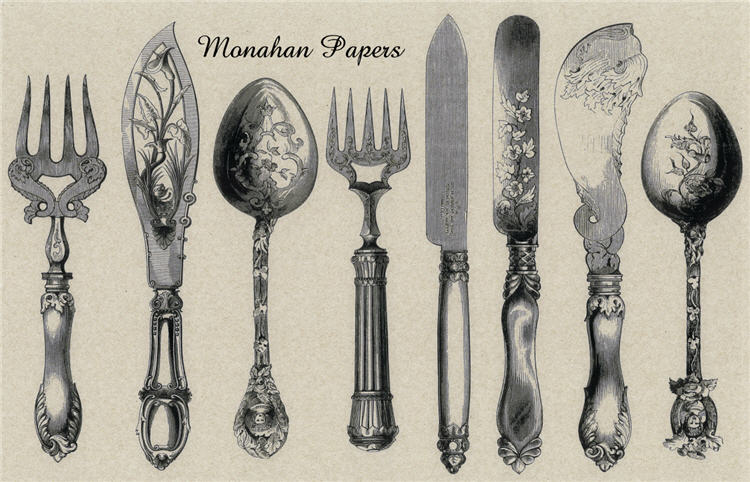 Mixed Silverware Placemats-
