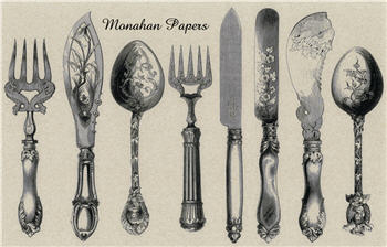 Mixed Silverware Placemats