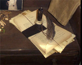 Vintage Papers Stationary With Lite-aged paper, stationary